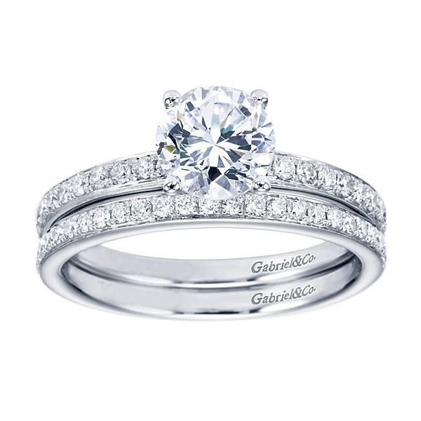 Gabriel & Co WB7537 channel bead set diamond band