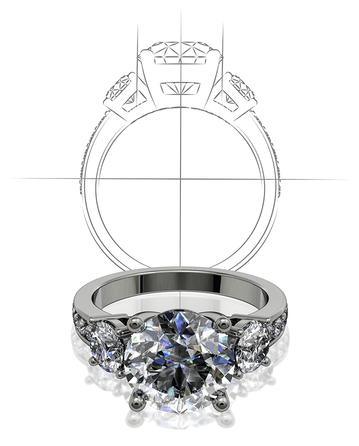 Custom Ring Design at Freedman Jewelers