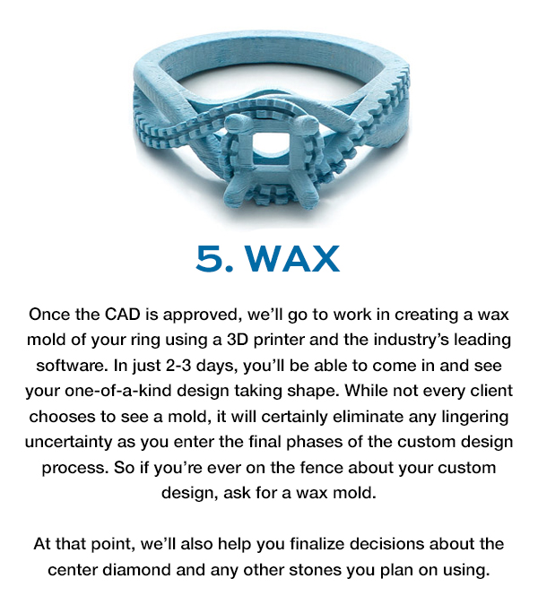 Freedman Jewelers - Custom Design Process: Wax