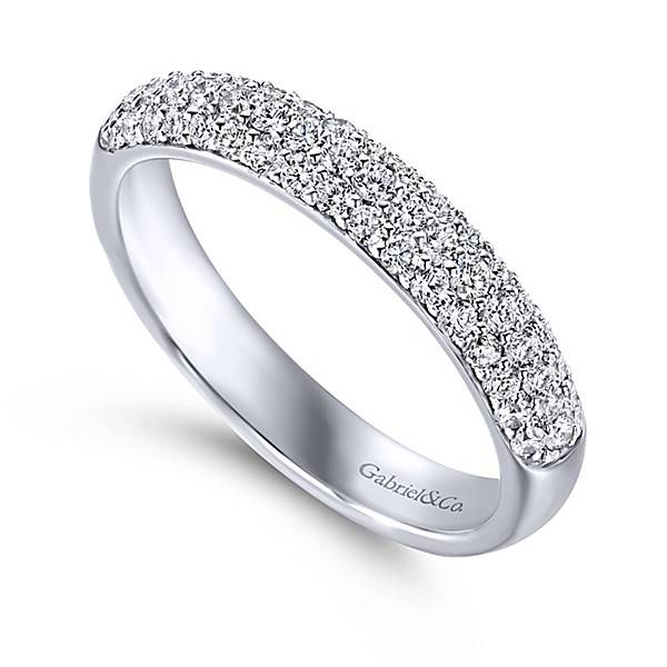 Gabriel & Co AN7868 3 row diamond wedding band