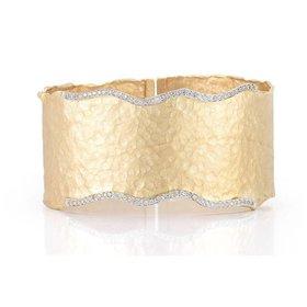 BIR345Y wide diamond cuff bracelet