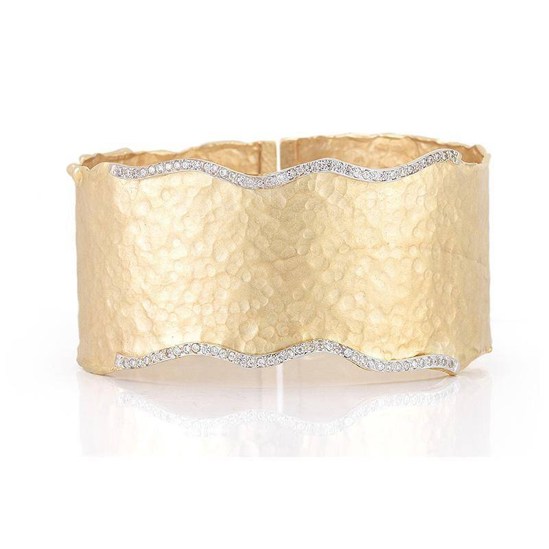 I. Reiss BIR345Y wide diamond cuff bracelet