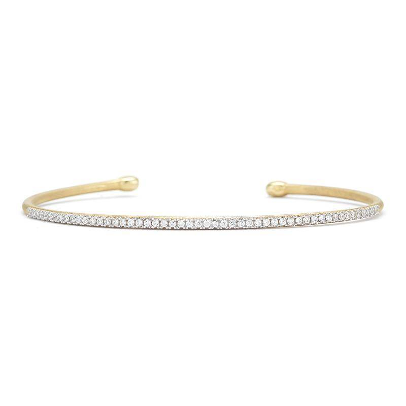 I Reiss Bir377y Thin Yellow Gold Diamond Bracelet