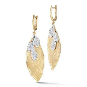 ER3130Y leaf diamond earrings