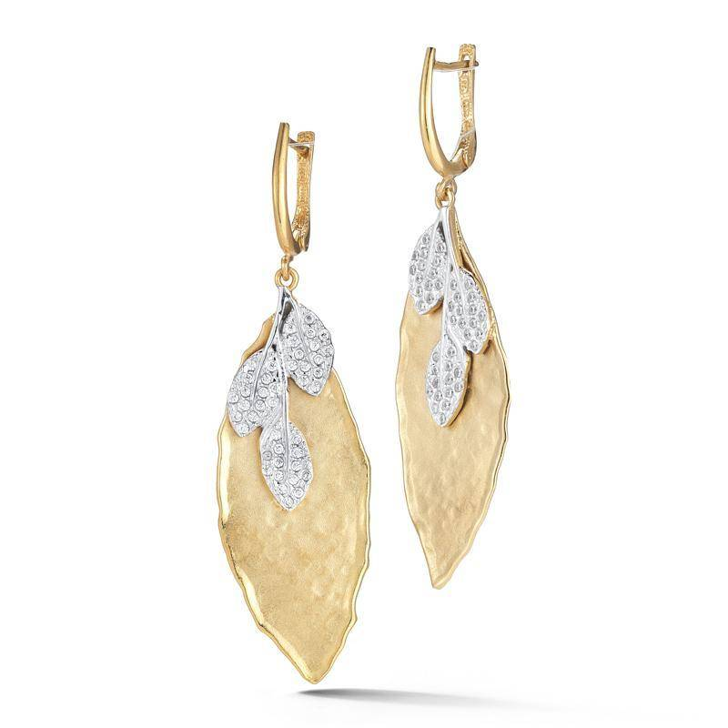 ER3130Y leaf diamond earrings