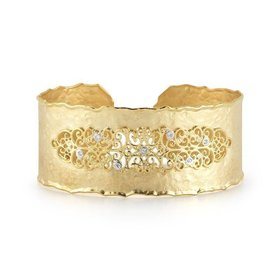 BIR405Y Filigree cuff bracelet