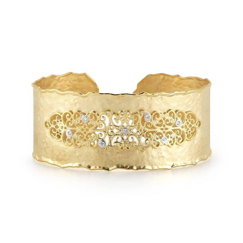 I. Reiss BIR405Y Filigree cuff bracelet