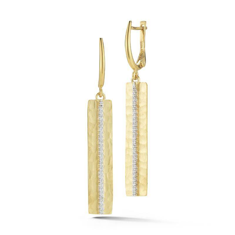 I. Reiss ER3167Y yellow gold diamond drop earrings