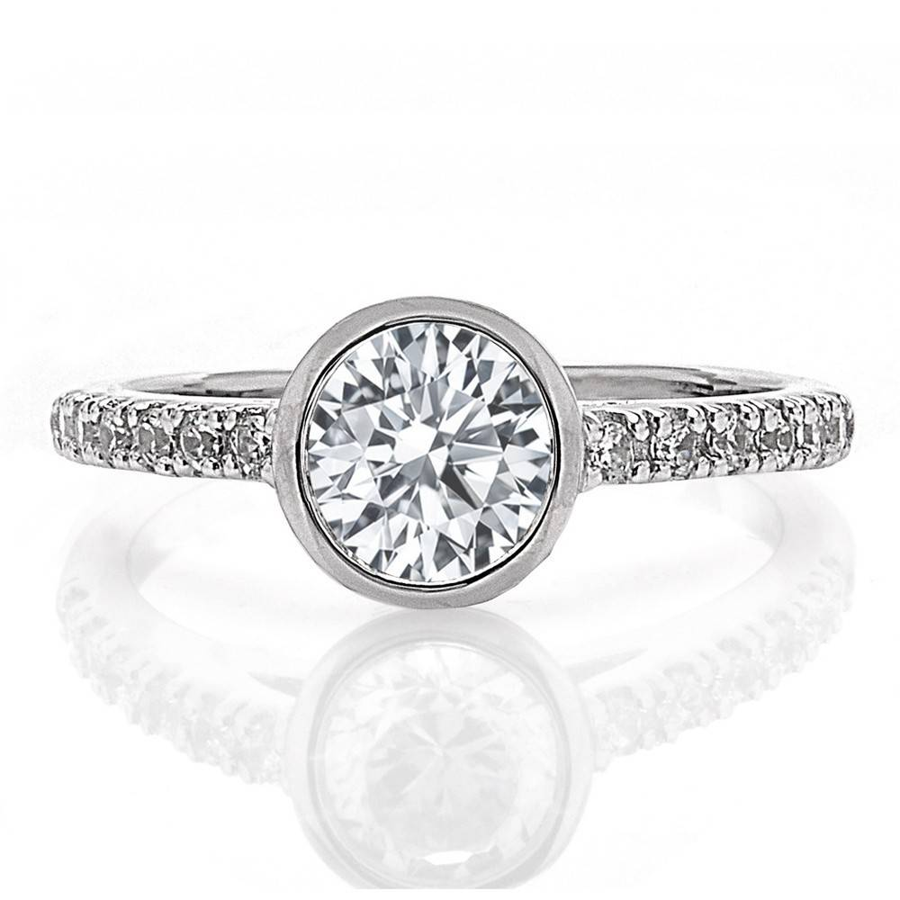 FA8467 bezel engagement ring setting