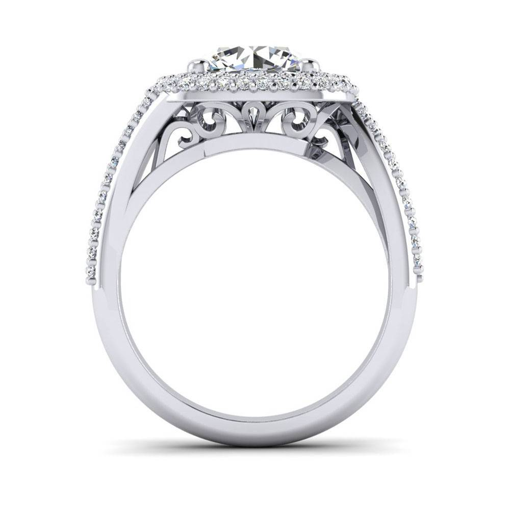 rings engagement cushion double index cut lcc wedding cheap halo ring diamond