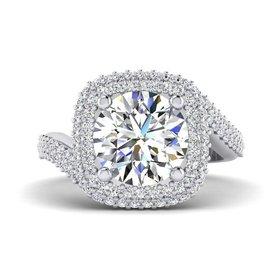 FA9240 double halo engagement ring setting