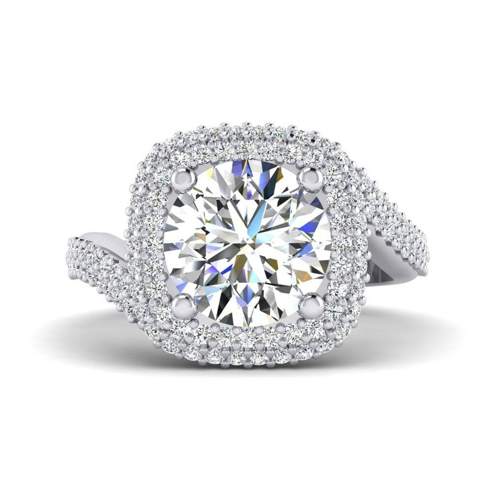FA9240 double halo engagement ring setting