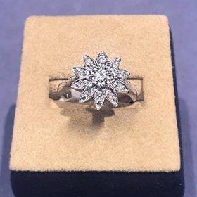 Vintage flower diamond ring