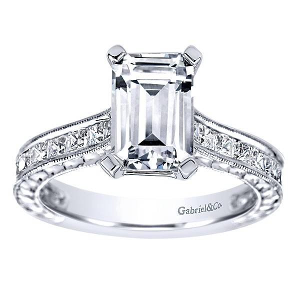 solitaire ring emerald rings cut diamond fashion engagement ritani cathedral quality