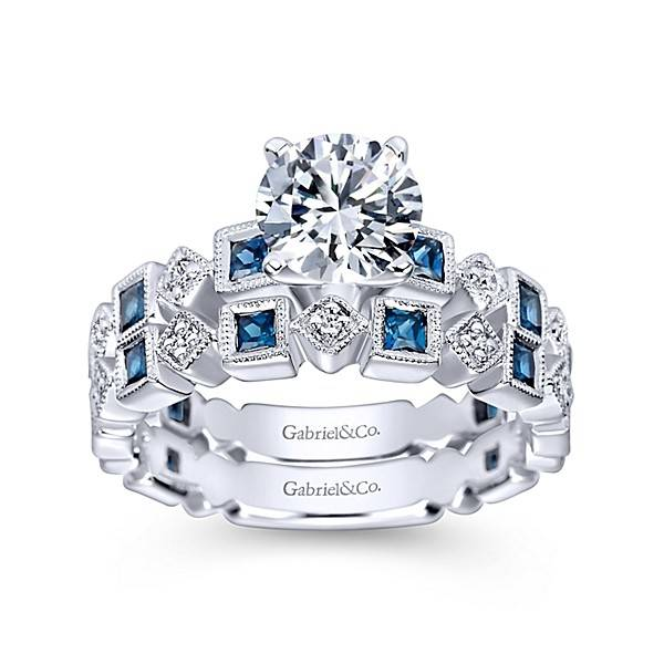 engagement diamond and for pav in amp p pave ring bands shop sapphire platinum