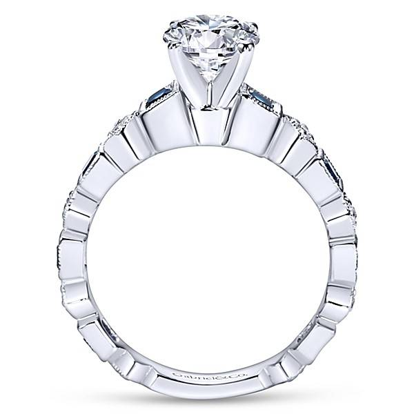 Gabriel & Co ER5660 alternating diamond sapphire engagement ring setting