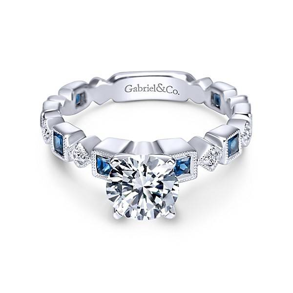 white women gold pid bands fl rings sapphire stackables blue stackable carat gemstone diamond ring