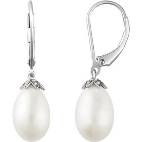 652770 pearl and diamond drop earring