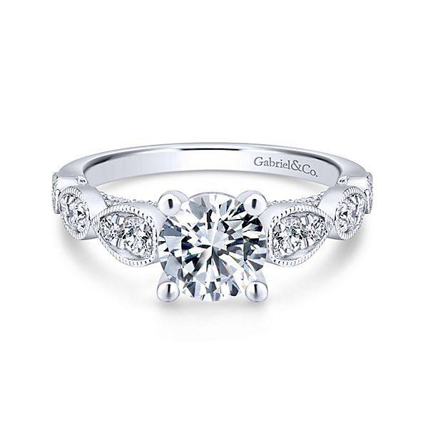 ER12803 Round Straight Engagement Ring