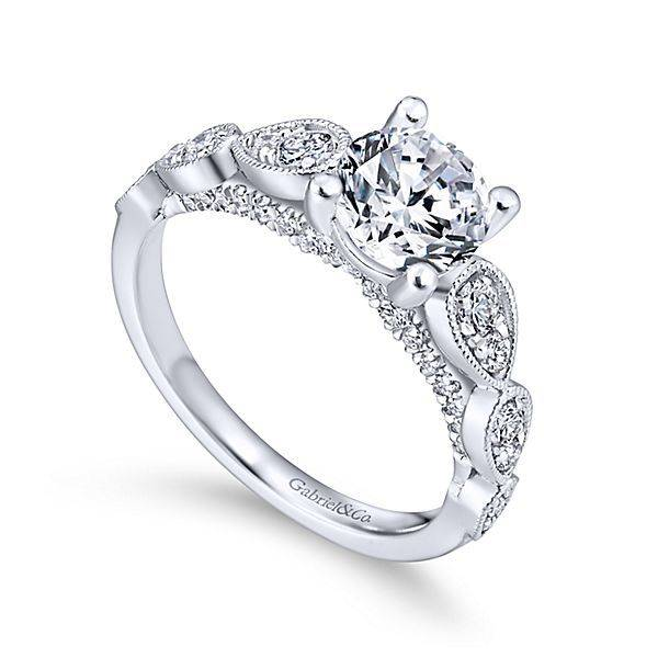 Gabriel & Co ER12803 Round Straight Engagement Ring