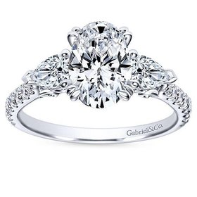 ER9048 oval and pear engagement ring setting