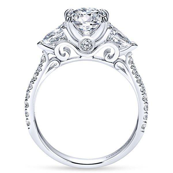 gabriel co er9048 oval and pear engagement ring setting - Wedding Ring Setting