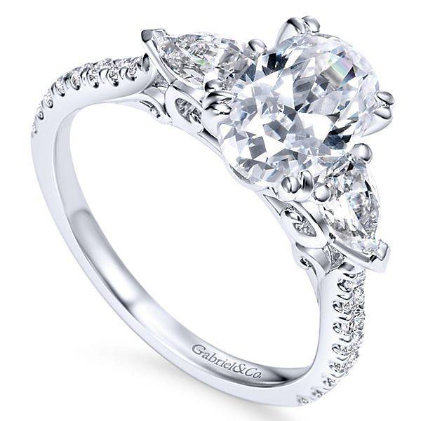 Gabriel & Co ER9048 oval and pear engagement ring setting