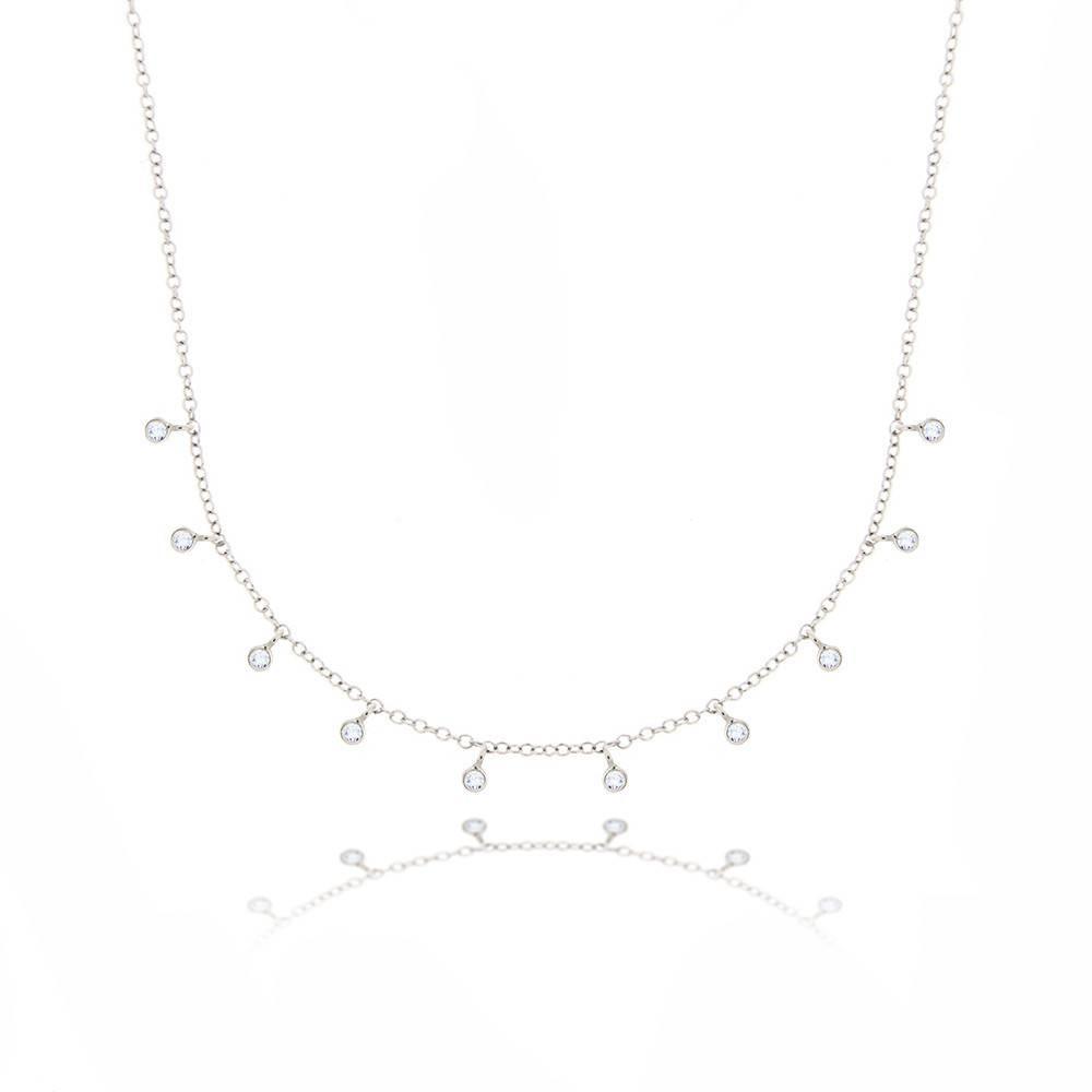 Meira T N10362 Hanging Diamond Bezel Necklace