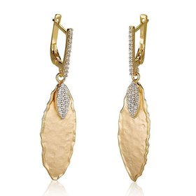 ER3071Y gold leaf earrings