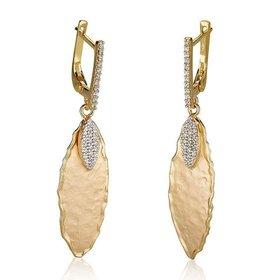ER3071Y gold leaf earrings
