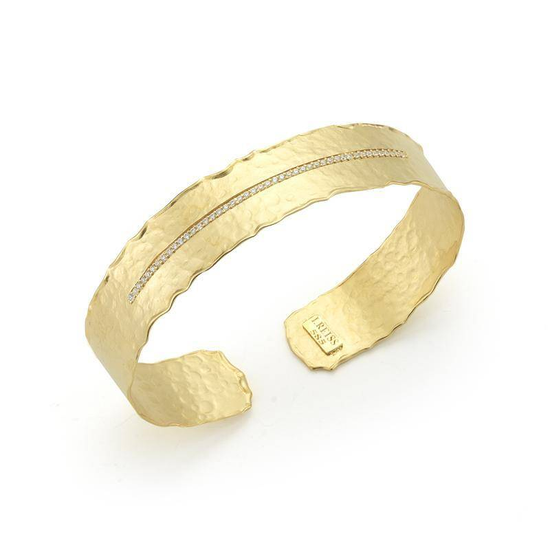 BIR458Y gold and diamond cuff bracelet