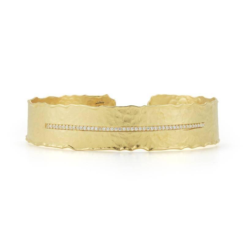 I. Reiss BIR458Y Gold and diamond cuff bracelet