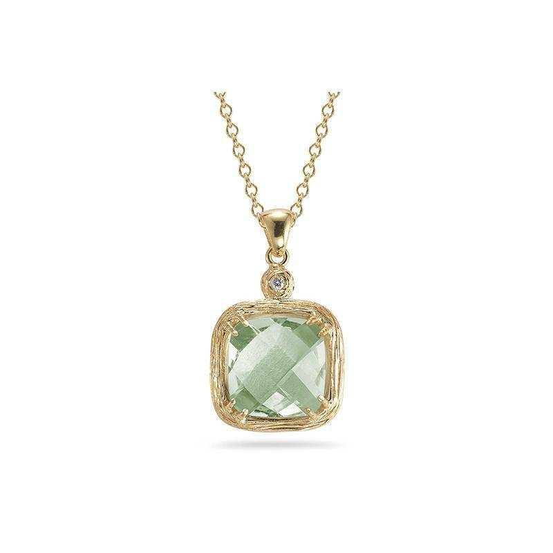I. Reiss IR3263YGA Green Amethyst Necklace