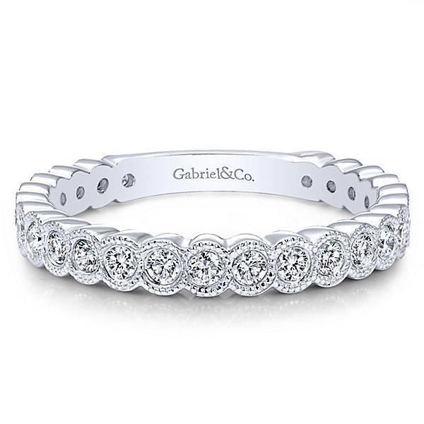 Gabriel & Co LR5139 diamond bezel set band