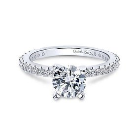 Logan Thin Prong Set Engagement Ring Setting