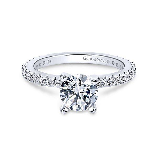 ER4124 diamond accent engagement ring setting