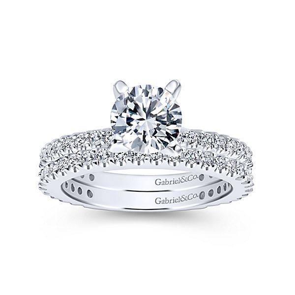 Gabriel & Co ER4124 diamond accent engagement ring setting