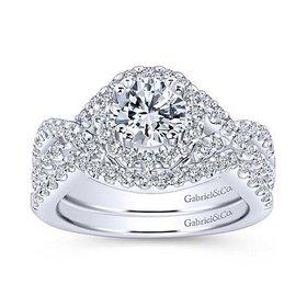 ER5798 infinity diamond halo setting
