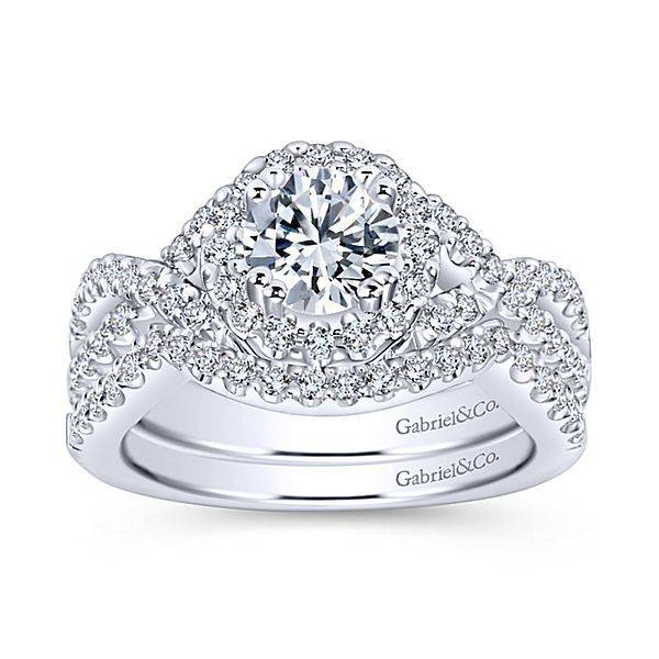 infinity diamond ring. gabriel \u0026 co er5798 infinity diamond halo setting ring