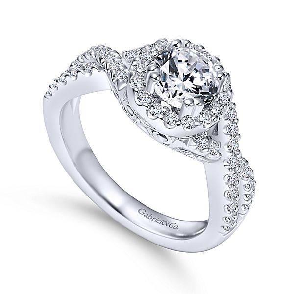 Gabriel & Co ER5798 infinity diamond halo setting
