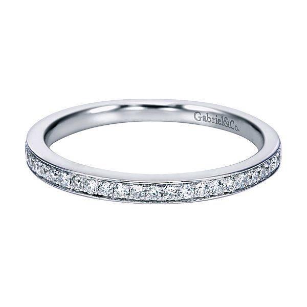 Gabriel & Co WB7444 thin channel set diamond band