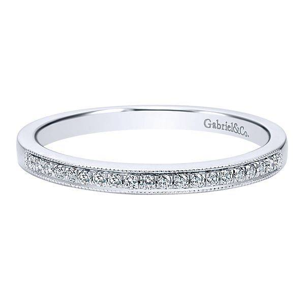 Gabriel & Co AN12081 Milgrain diamond band