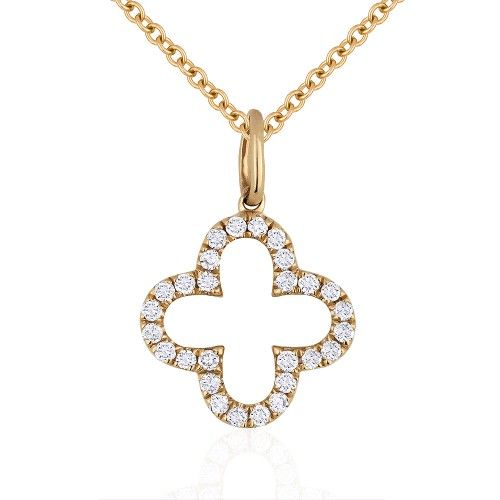White gold diamond clover shape necklace freedman jewelers madison l n1010w diamond clover shape pendant necklace aloadofball Image collections