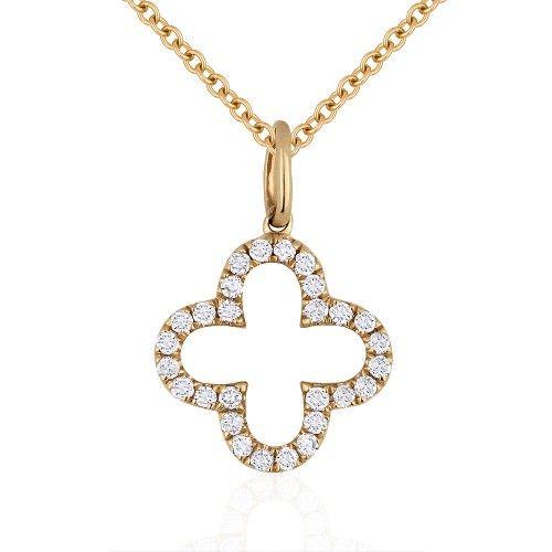 White gold diamond clover shape necklace freedman jewelers madison l n1010w diamond clover shape pendant necklace aloadofball Gallery