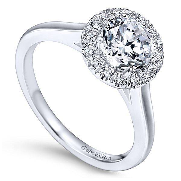 Gabriel & Co ER7265 Round Halo Engagement Ring