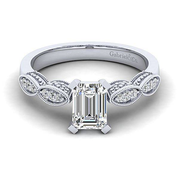 Gabriel & Co ER3848 Round Straight Victorian Engagement Ring