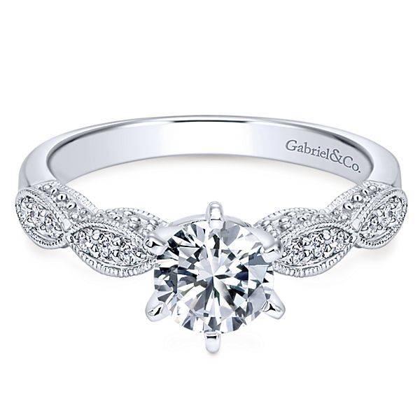 ER3848 Round Straight Victorian Engagement Ring