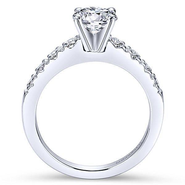 Gabriel & Co ER3950 Contemporary Pauve Engagement Ring