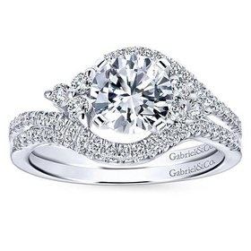 Izzie Bypass Engagement Ring Setting