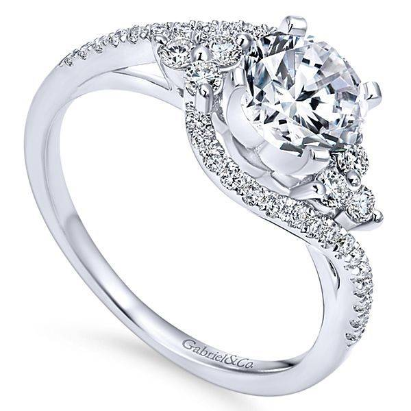 Gabriel & Co ER5330 Bypass Engagement Ring Setting